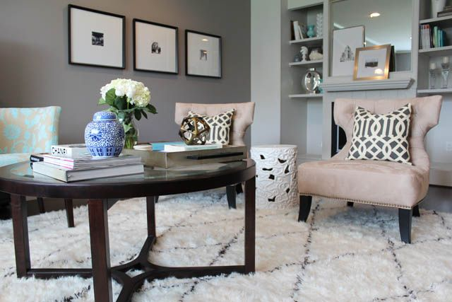 Shag Area Rugs For Living Room marcus design: {my latest living room addition } rugs usa