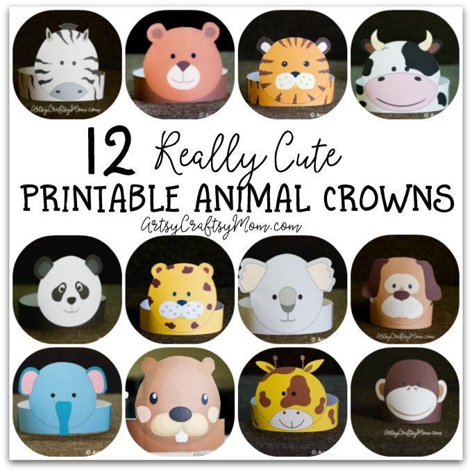 12 Adorable Party Animal Printable Hats For A Jungle Party Parti