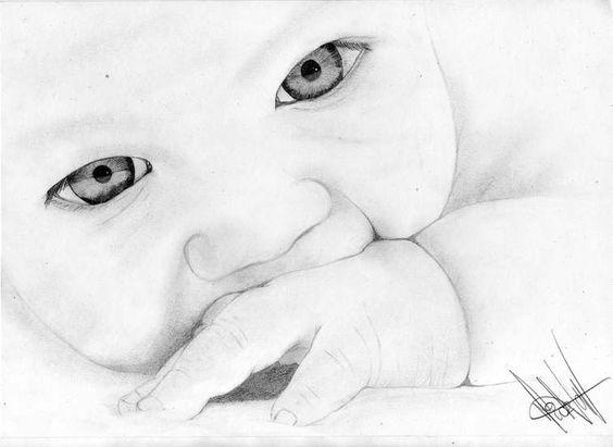 Resultado De Imagen Para Bebes A Lapiz Dibujos Dibujos Geniales De Arte Pintura Y Dibujo