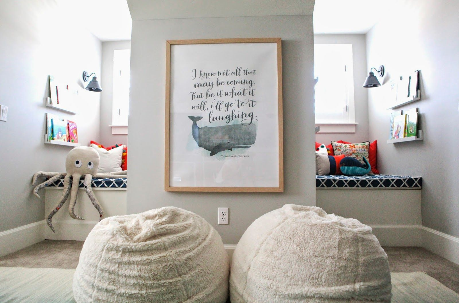 Adorable! 6th Street Design School | Kirsten Krason Interiors : Nautical Playroom Reveal