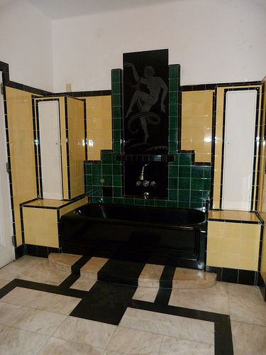 A Bathroom In Rio Art Deco Badezimmer