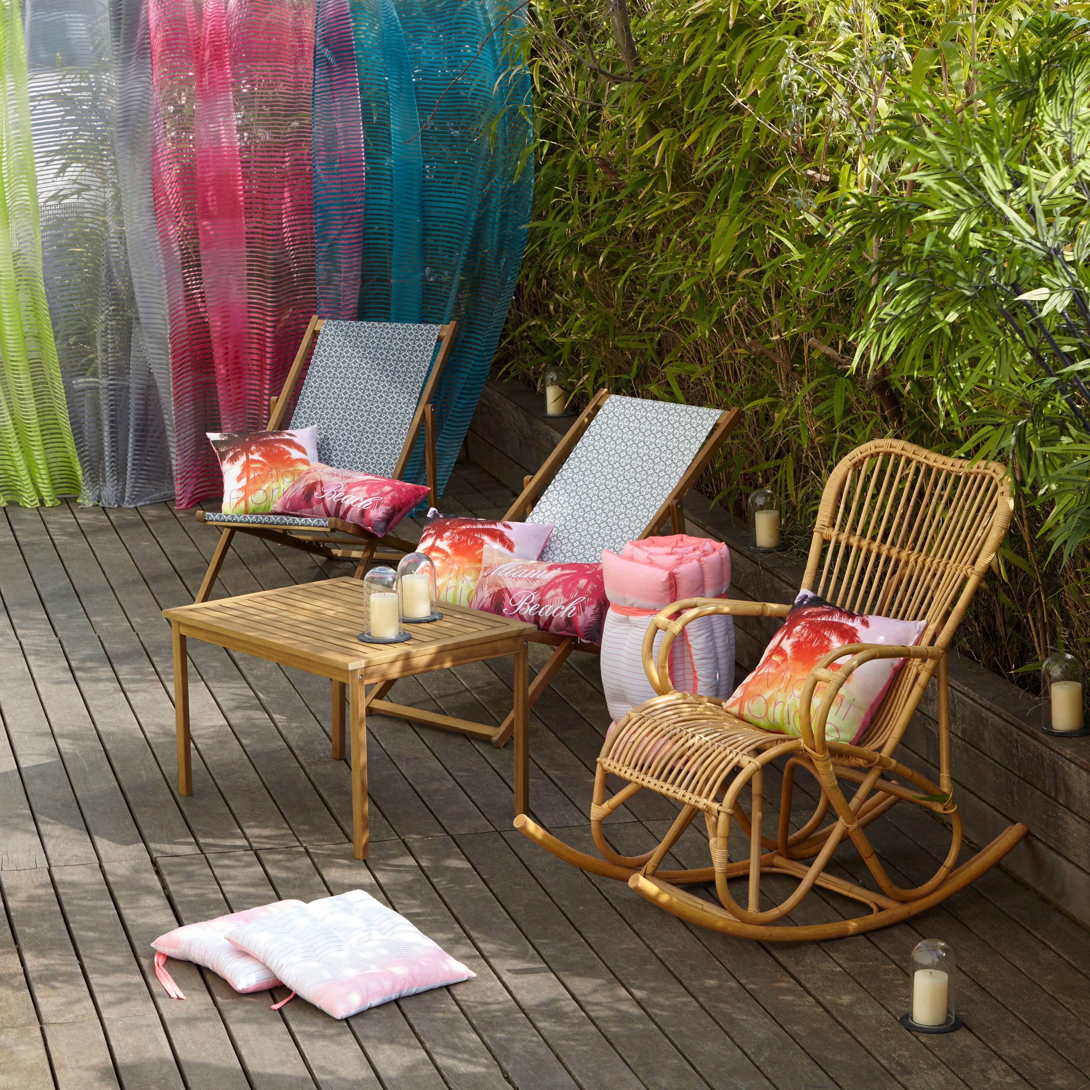 tristan fauteuil rocking chair en rotin naturel alin a jardins ext rieurs pinterest. Black Bedroom Furniture Sets. Home Design Ideas