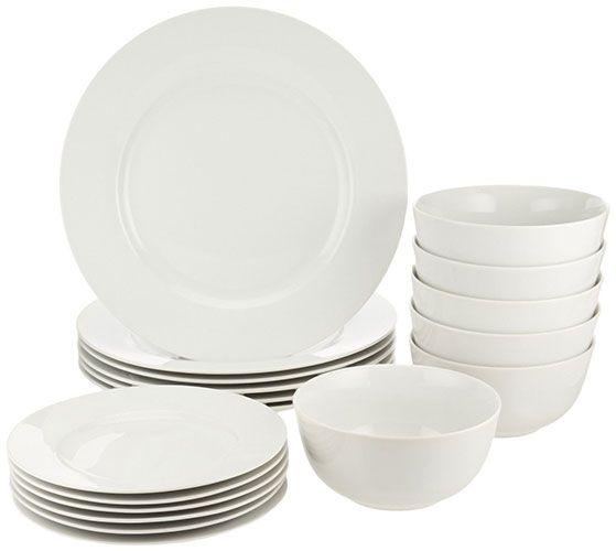 Best Dinnerware Sets For Everyday Use 1. AmazonBasics 18-Piece Dinnerware Set  sc 1 st  Pinterest & Best Dinnerware Sets For Everyday Use: 1. AmazonBasics 18-Piece ...