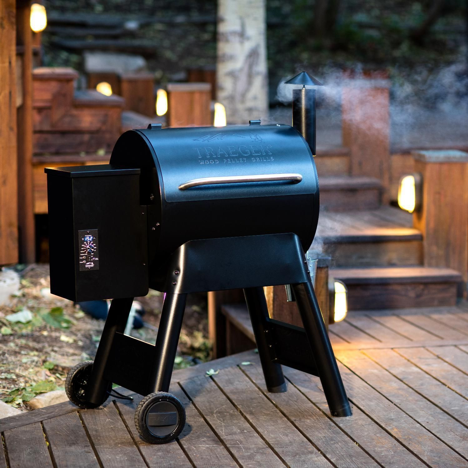 Traeger Pro Series 22 Pellet Grill On Cart Take Your Wood Fired Cooking Skills To The Next Level With The Pro Ser Pellet Grill Wood Pellet Grills Traeger Grill