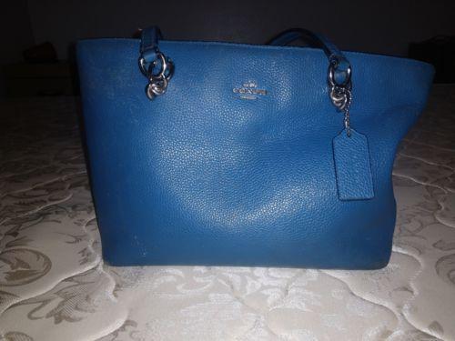 225dcb853b54 COACH F36704 Mini Christie Crossgrain Leather Carryall Satchel Bag - blue
