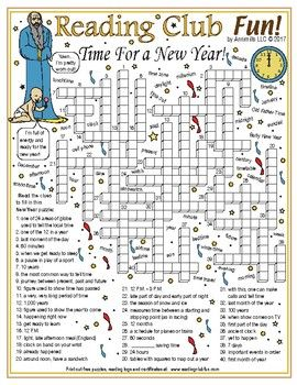 time for a new year crossword puzzle new year printables and worksheets pinterest printable puzzles christmas fun and christmas puzzle