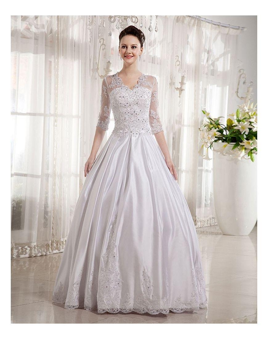 Palloncino Abiti da Sposa Invernali Eleganti in Ventita Online