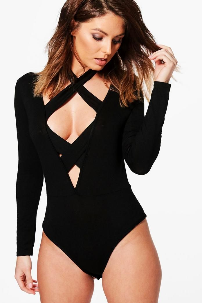 Boohoo Extreme Strap Plunge Bodysuit Free Shipping Nicekicks Clearance Footlocker Pictures Really Cheap Shoes Online PfyyCn0F4