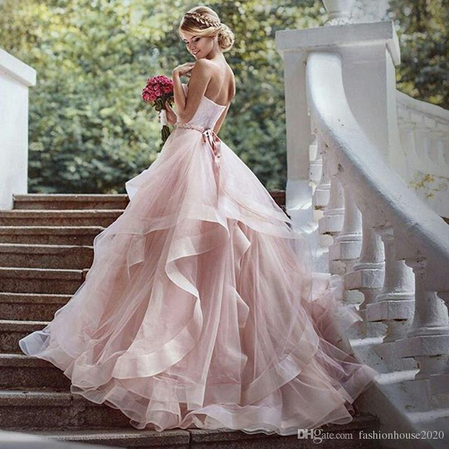 Chagne Tulle Country Wedding Dresses 2017 Sweetheart Ruffles Puffy Dress Plus Size Beach Bridal Gowns Real Photos: Ruffled Country Wedding Dresses At Websimilar.org