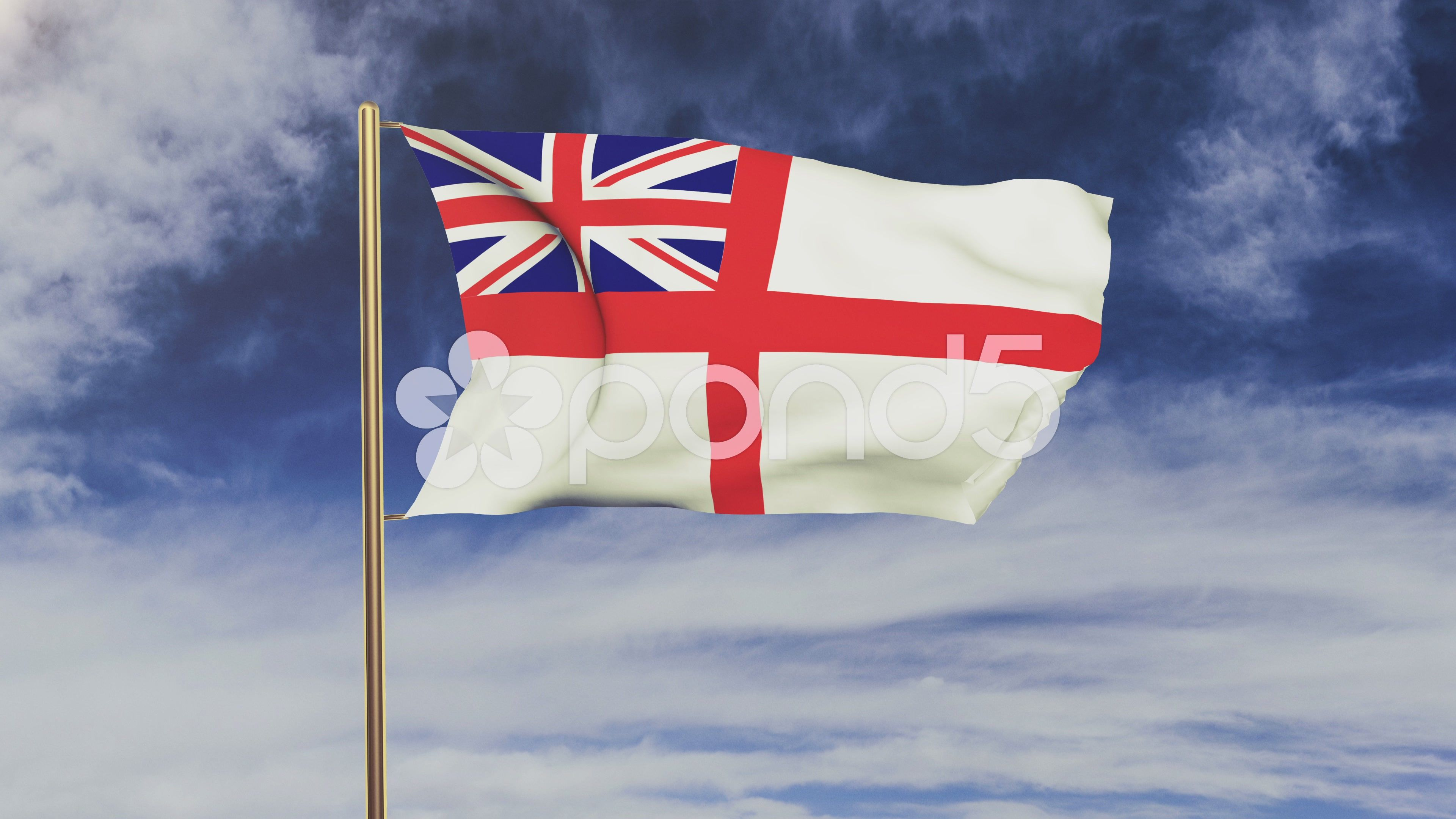 Royal Navy Flag Waving In The Wind Green Screen Alpha Matte Loopable Stock Footage Ad Waving Wind Royal Green In 2020 Navy Flag Royal Navy Greenscreen
