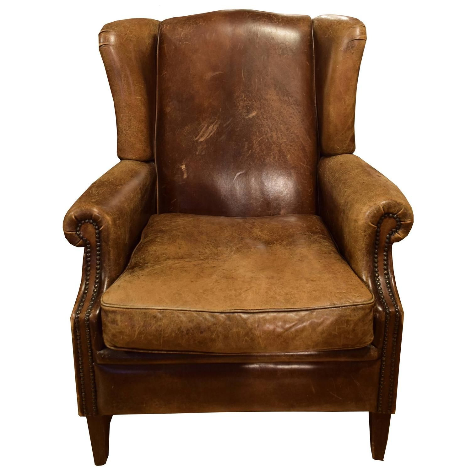 Leather Wingback Chair For Sale Stühle, Leder und Italien
