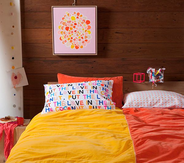 Rachel Castle Velvet Quilt Covers - bright bedding for winter warmth