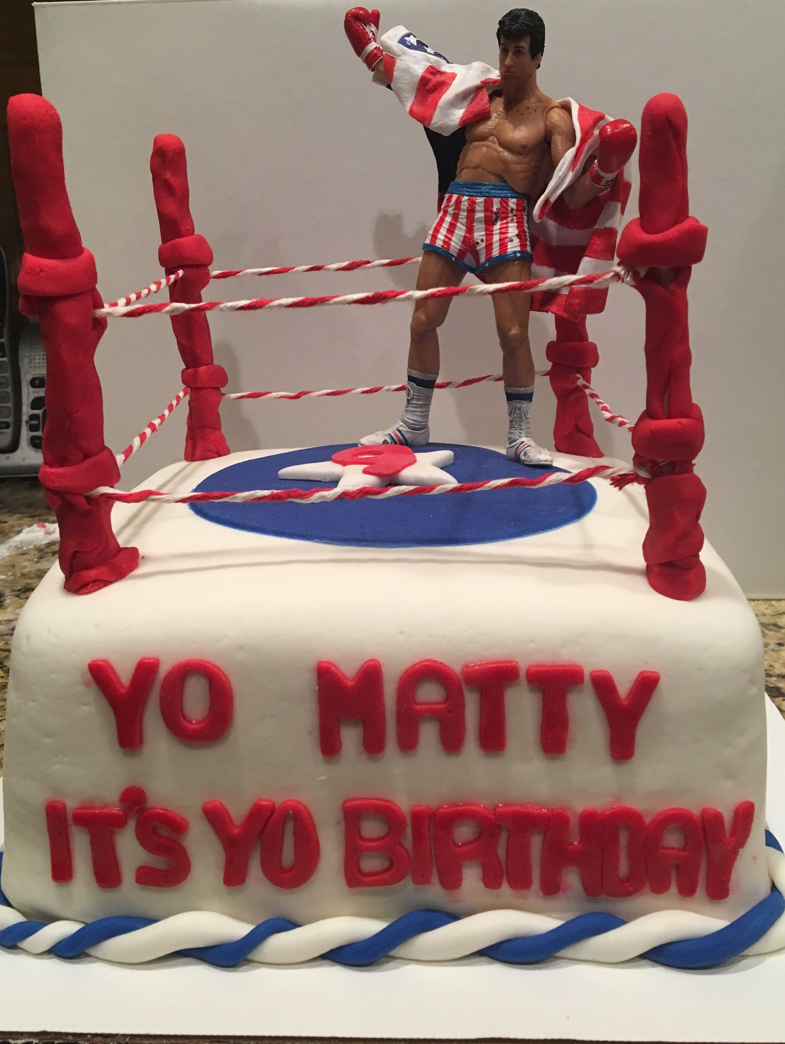 Rocky Boxing Ring Cake Birthday Treats Birthday Movie Cakes