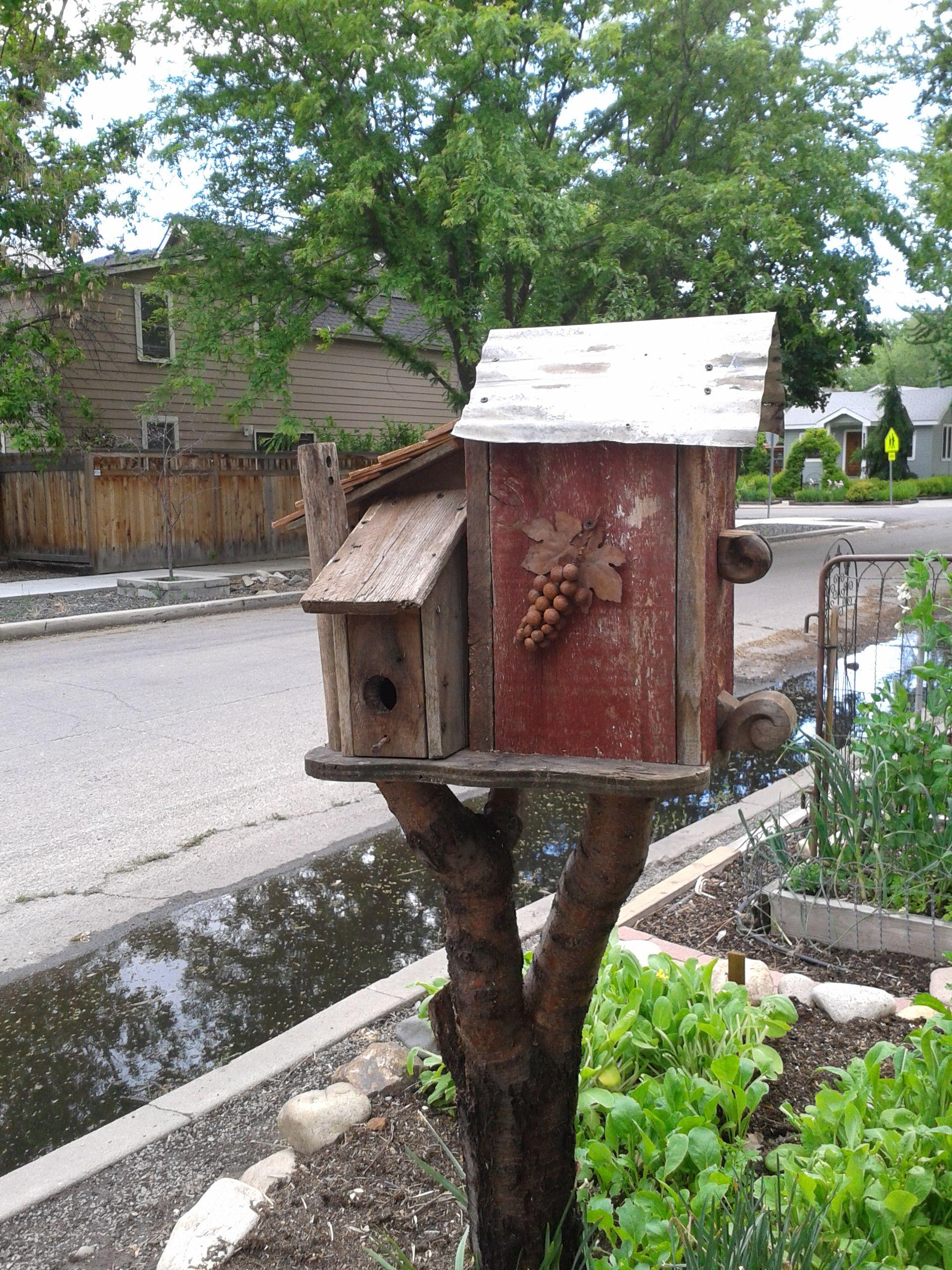 Bird House Condo On Tree Stump For The Birds Bird Houses Birds House