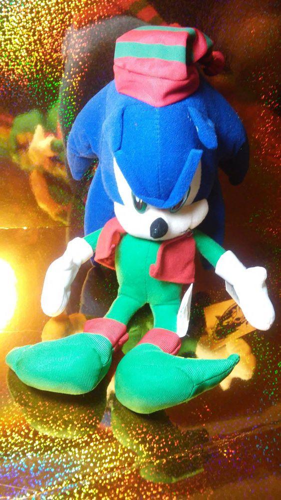 Sega Sonic The Hedgehog Christmas Plush Toyland Factory Htf With
