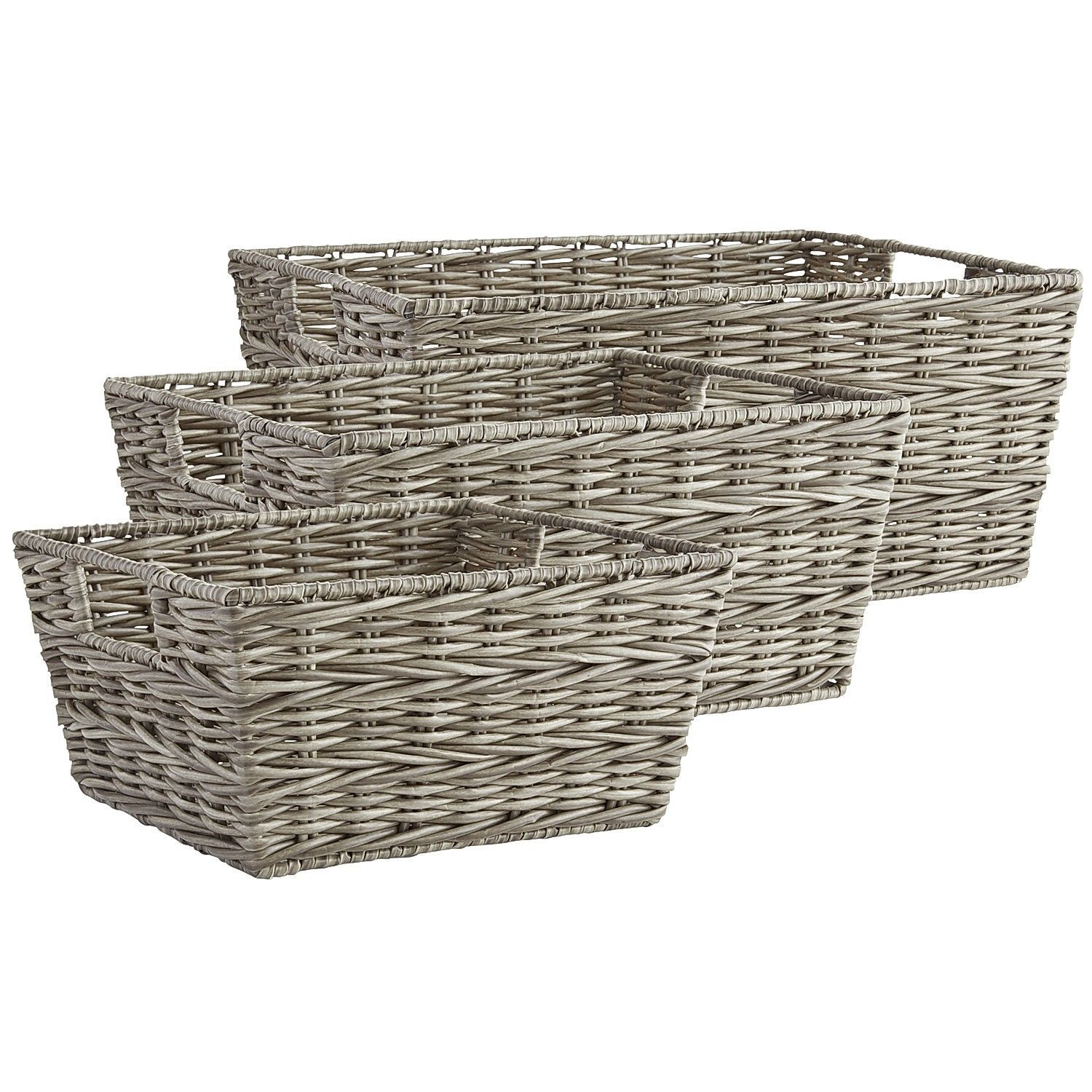Collin Braid Shelf Baskets Gray Shelf Baskets Storage Wicker Shelf Basket Shelves