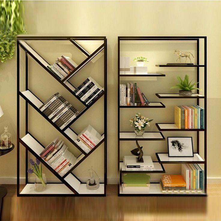 resultado de imagen para libreros de hierro | herreria | pinterest ... - Muebles De Herreria Para Tv