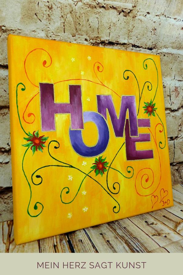 Acrylbild Mit Home Motiv Idee Zum Malen Acrylbilder