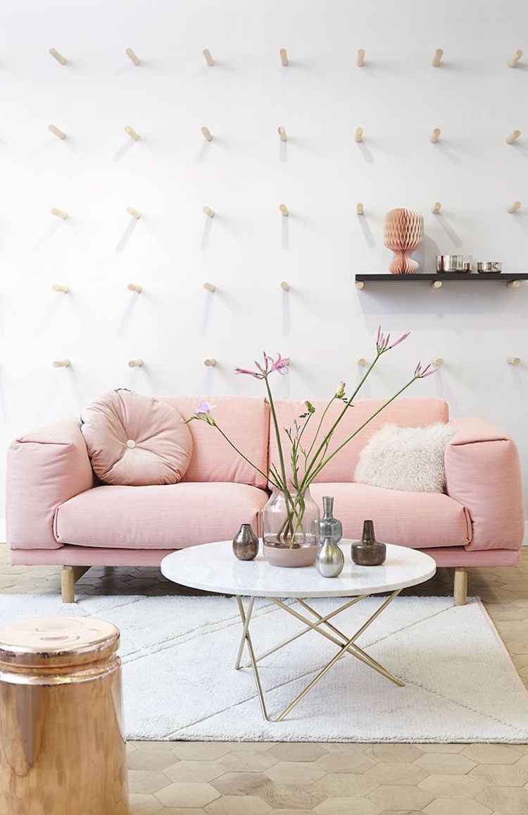 18 Chic Blush Pink Sofas How To Style Them Pink Couch Li
