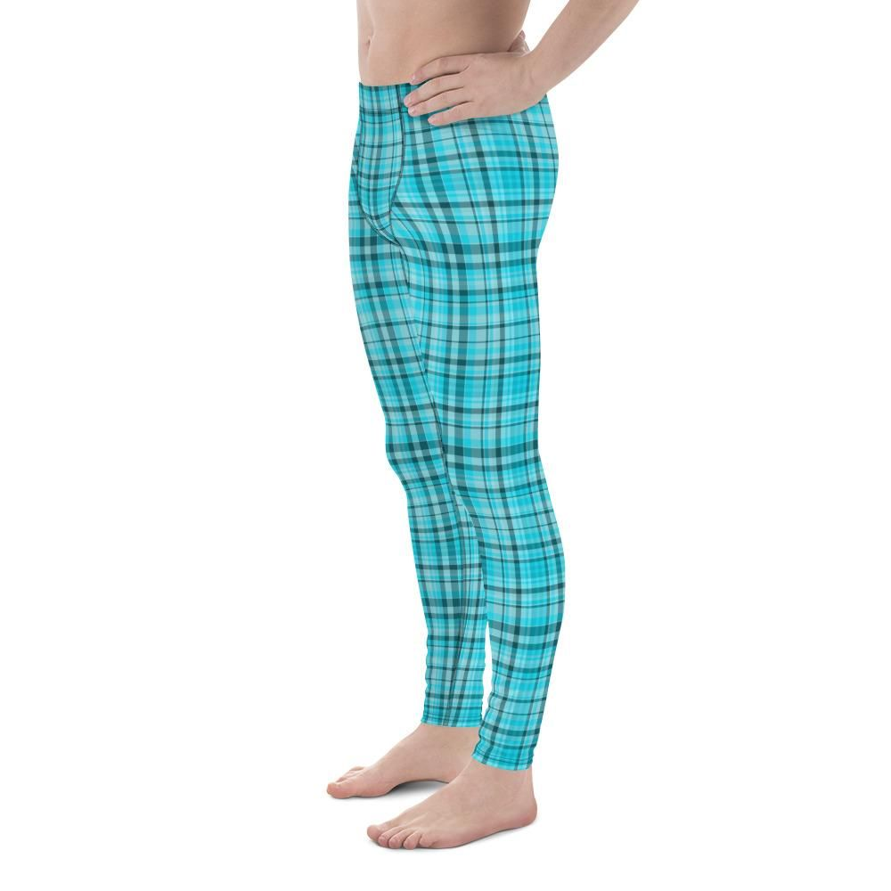 edae2c3a0f8da Ozu Flying Turquoise Blue Bird Print Men's Christmas Running Leggings Run  Tights Meggings Activewear-Made in USA(US Size: XS-3XL)Bird Tights