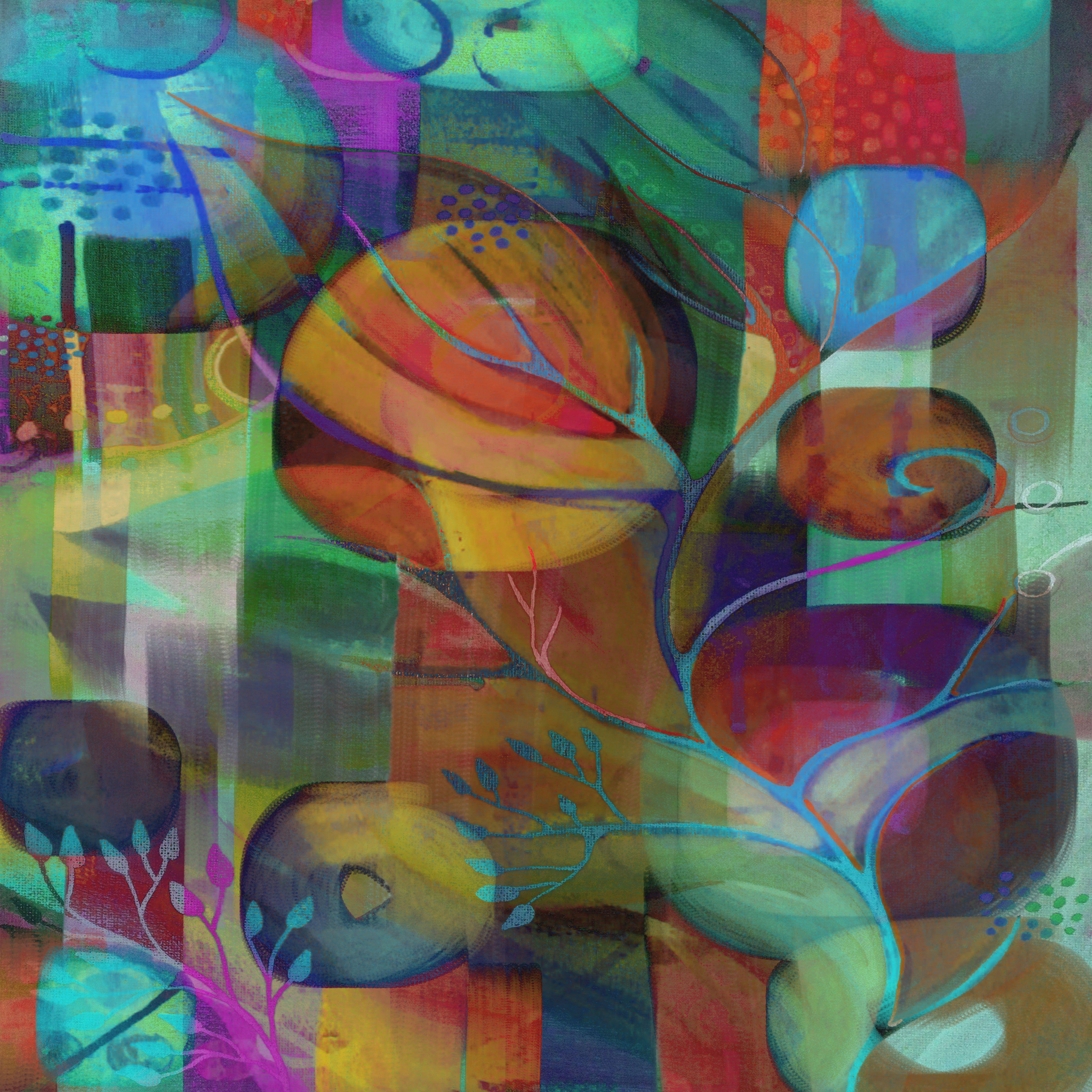 pretty petals acrylic painting by Delores Orridge Naskrent