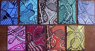 Tri Color Zentangles - Flickr