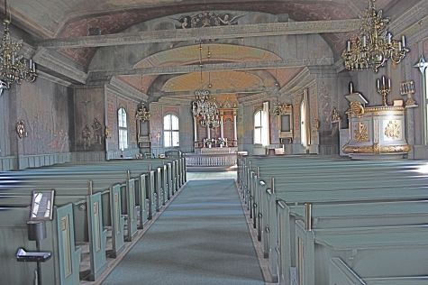 Interior of the church facing the altar