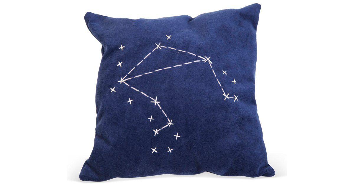 Blue star zodiac signs pillow libra pillows pillow