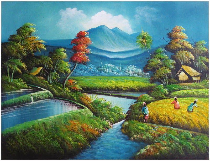 Gambar Lukisan Alam Yang Indah Gambar Lukisan Alam Yang Indah Gambar Terunik Di Dunia Gambar Unikhttp Pemandanganoce Blogspot Co Pemandangan Seni Rupa Gambar