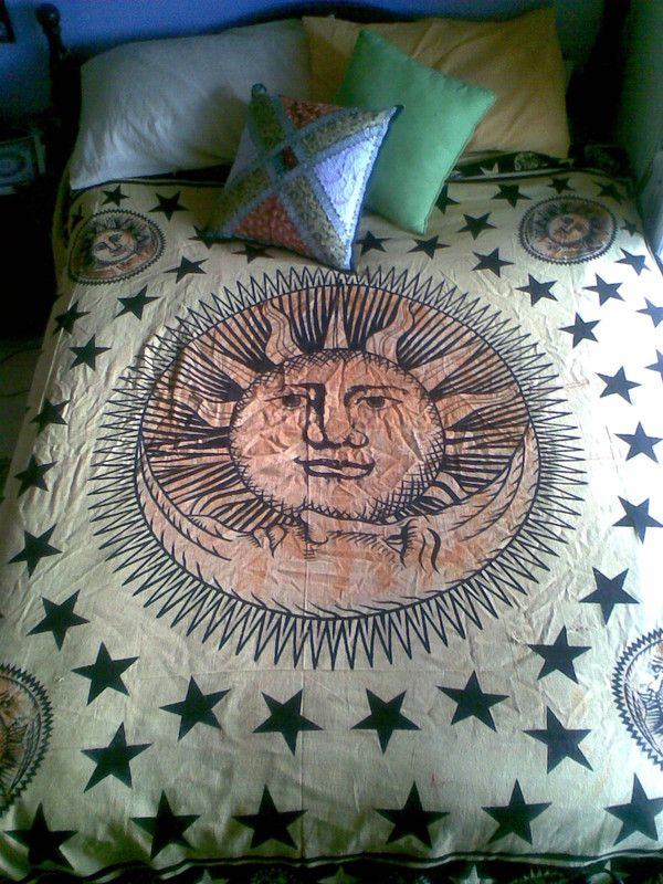 sun and moon tapestry black and white gallery