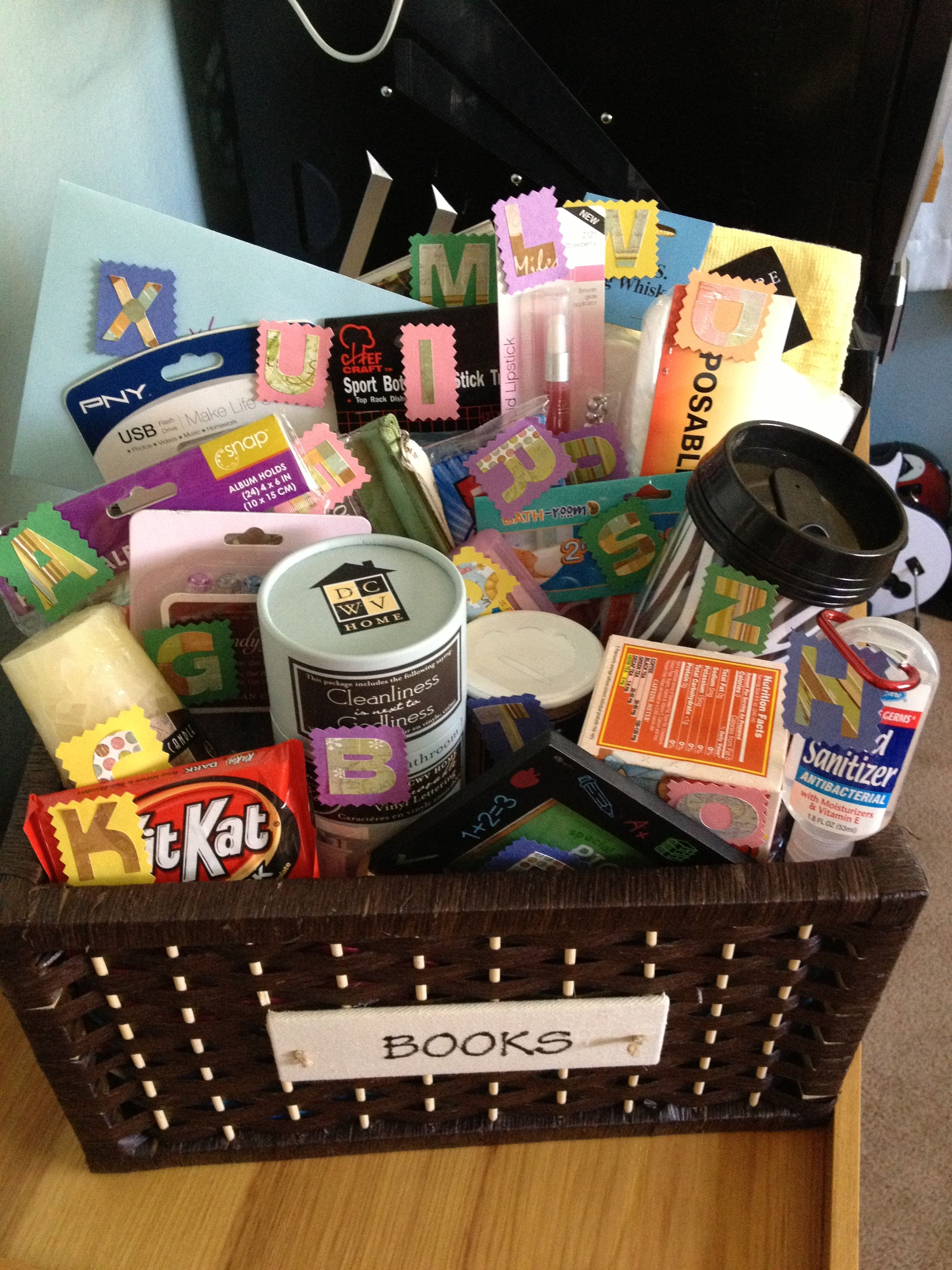 Abc Gift Basket Where Each Item Begins With A Letter