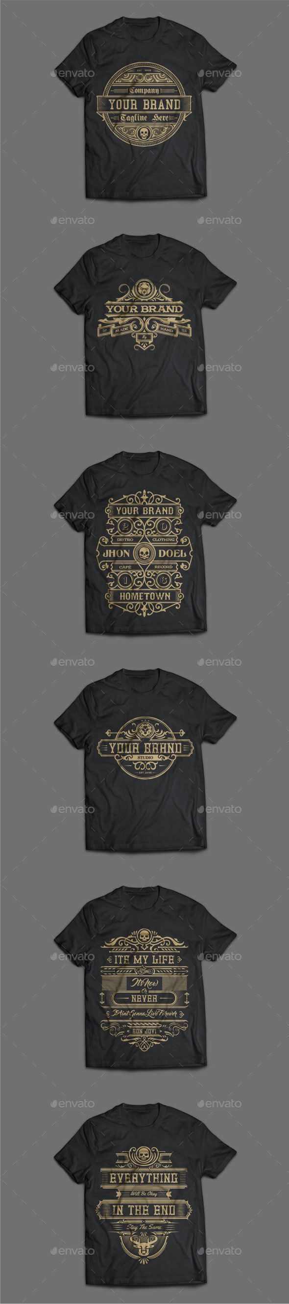 6 T-Shirt EPS Templates • Download ➝ https://graphicriver.net/item/6-tshirt-template-3/17053112?ref=pxcr
