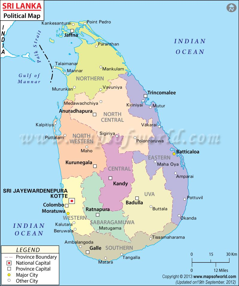 Political map of sri lanka maps geography pinterest geography political map of sri lanka gumiabroncs Images