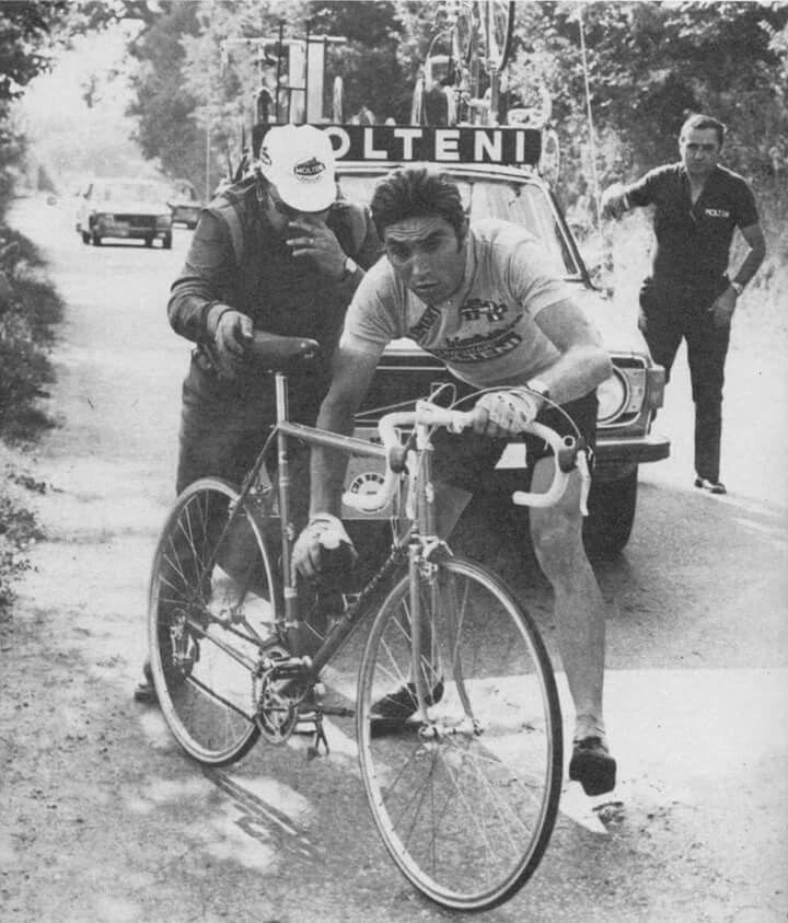Giro de Italia, Eddy Merckx and his mechanic Ernesto Colnago