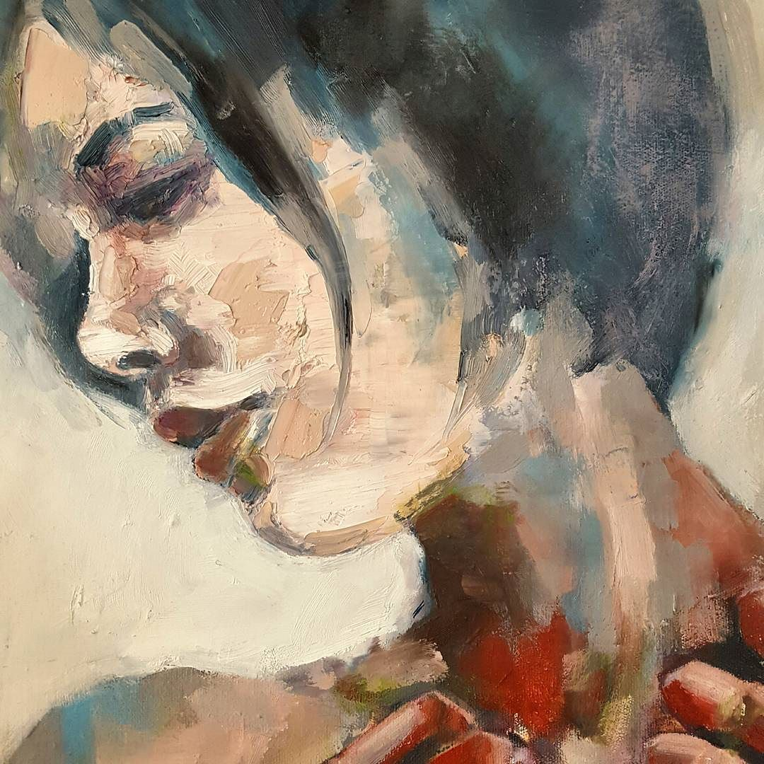 Head detail from a figure study in impasto #fineart #paintings #oils #impasto #surface #texture #heads #creative #inspiration #expressive #instaart #artistoninstagram #artoftheday #picoftheday #contemporaryart http://ift.tt/2es9akz