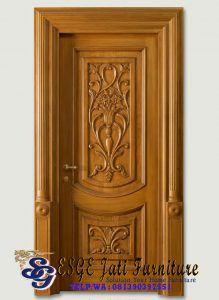 daun pintu rumah ukir jati klasik   modern, ukiran