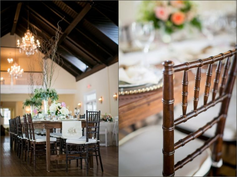 Farmhouse Style Wedding Reception Table Monogrammed Wedding Table