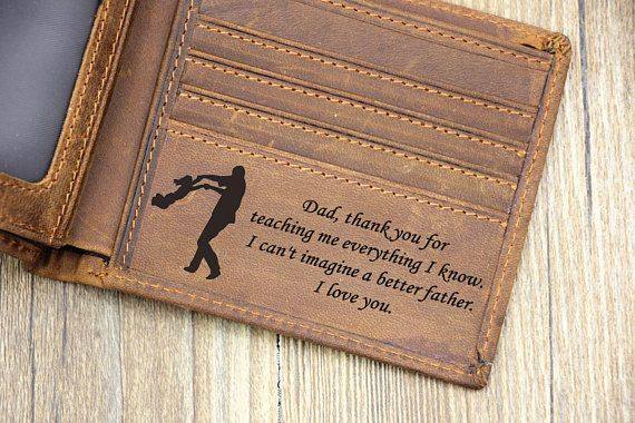 Personalized Mens Wallet, Custom Father's Day Wallet