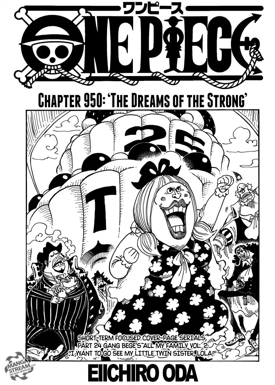 One Piece Chapter 950 The Dreams Of The Strong Page 2 Manganelo Com One Piece Chapter One Piece Manga Read One Piece Manga