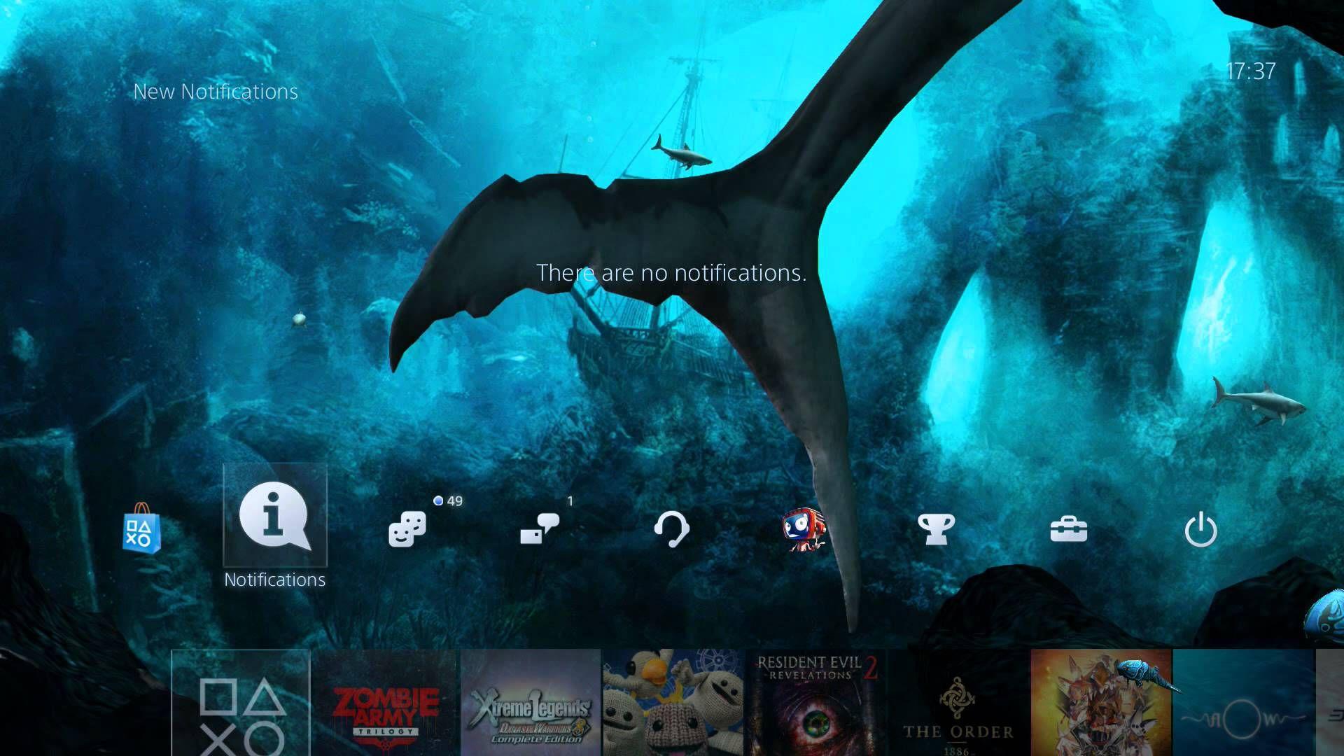 PS4 Dynamic Theme: 3D Poseidon's Aquarium | 创新3D主题