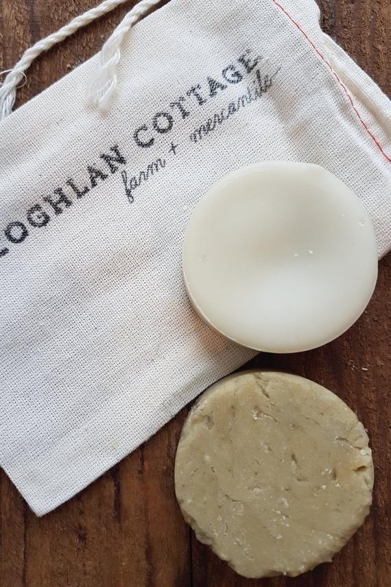 Solid Shampoo + Conditioner Bar Set Rosemary Mint Shampoo