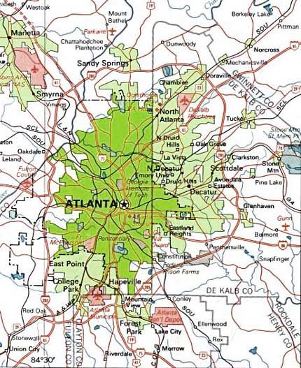 Cities In Atlanta Georgia Map.City Limits And Heart Of Metro Atlanta Map Cities Pinterest