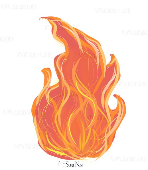 Feu Flamme Dessin Dire Drawing Dessin Flamme Comment Dessiner