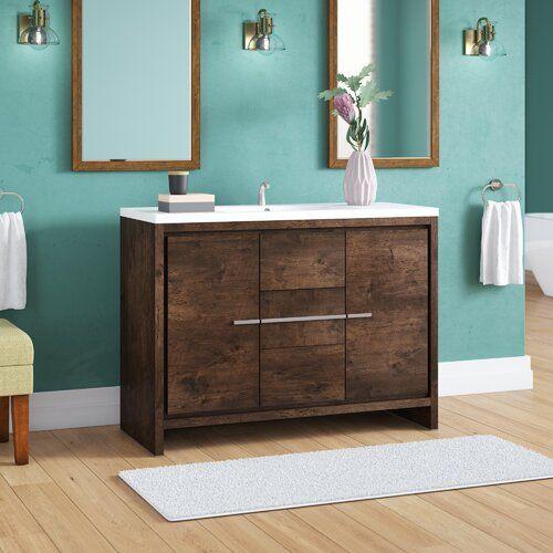 "Photo of Almendarez freestanding modern 36 ""single bath vanity set"