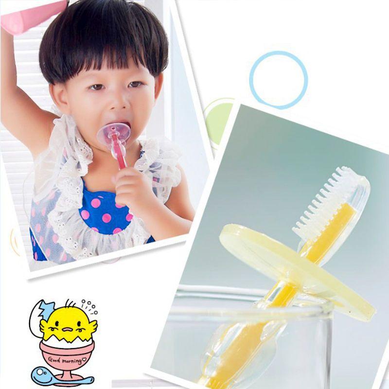 1 Pc Silicone Criancas Escovas De Dentes Para Criancas Escova De Dentes Do Bebe Treinamento Mordedor Bebe Recem Nascido Baby Toothbrush Brushing Teeth Children