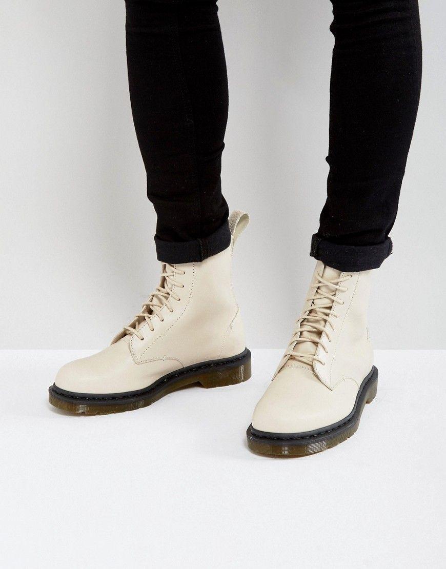 c130673c5d4 Dr Martens Pascal Decon 8 Eye Boots - Cream