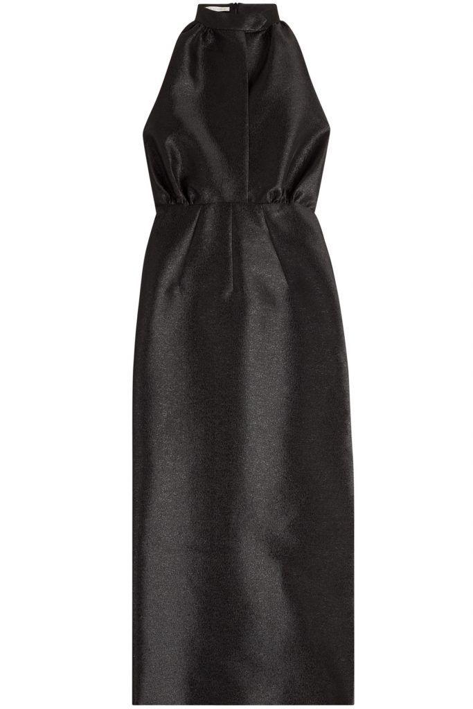 #Emilia #Wickstead #Abendkleid mit #Seide #, #Schwarz für #Damen - Event > Einladung? Für alle, die nach einem Abendkleid suchen, das mit schlichter Eleganz punktet, haben wir die perfekte Lösung: das schwarze Dress mit Seide und Halterneck > Detail von Emilia Wickstead  >  Schwarzer Seidenmix, Halterneck, drapierte Vorderseite, ärmellos, Reißverschluss am Rücken, Schlitz  >  Schmal geschnitten  >  Wie tragen? Passt zu bestickten Pumps und einer Clutch