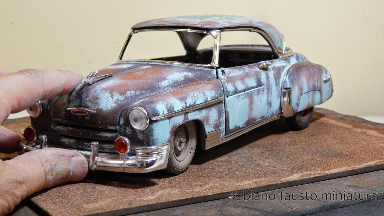 fabiano fausto miniaturas: Chevy Bel Air 1950 - 1/18