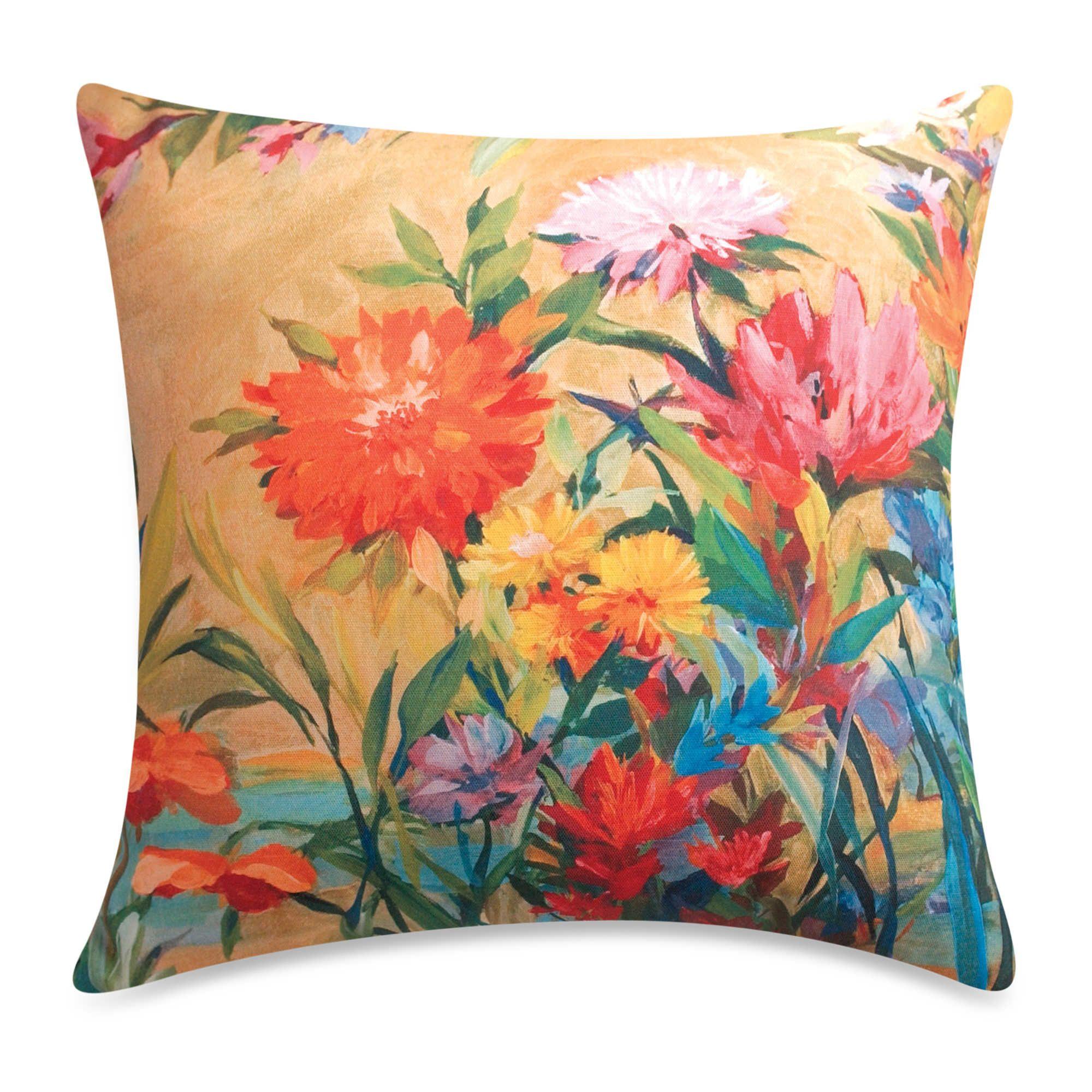 Outdoor Throw Pillow   Floral throw