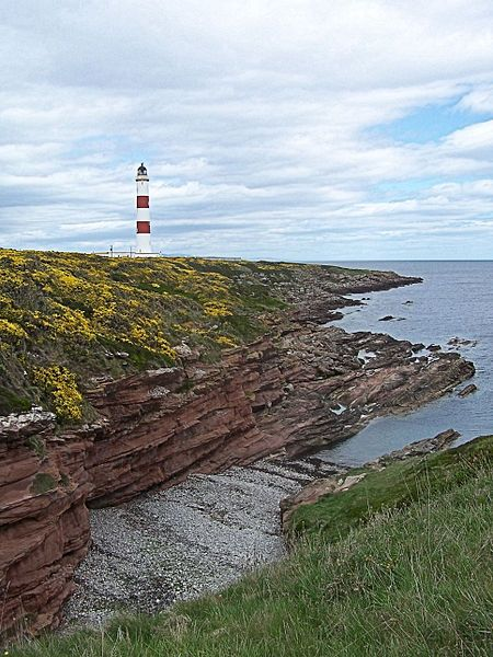 The Tarbat Ness Lighthouse is located at the North West tip of the Tarbat Ness peninsula near the fishing village of Portmahomack on the east coast of Scotland. It was built in 1830